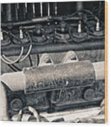 Inner Life Of An Old Car Wood Print