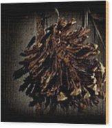 Inner Pine Cone Wood Print