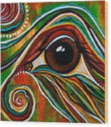 Inner Strength Spirit Eye Wood Print