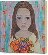 Innocence Wood Print by Anamarie Fox