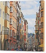 Innsbruck Color Wood Print