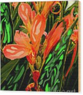 Inpressionistic Garden Wood Print