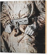 Insane Person In Restraints Wood Print