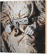 Insane Person In Restraints Wood Print by Daniel Hagerman