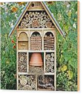 Insect Hotel Wood Print by Olivier Le Queinec