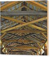 Inside A Covered Bridge 3 Wood Print