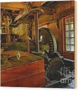 Inside A Grist Mill Wood Print