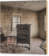 Inside Abandoned House Photos - Old Room - Life Long Gone Wood Print