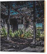 Inside An Abandon Building Wood Print