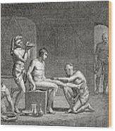 Inside An Egyptian Bathhouse, C.1820s Wood Print