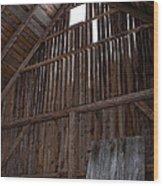 Inside An Old Barn Wood Print