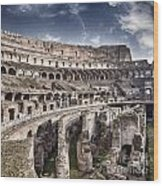 Inside Colosseum Wood Print