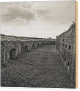 Inside Fort Macomb Wood Print