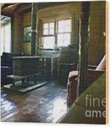 Inside Heaven In Oil Wood Print