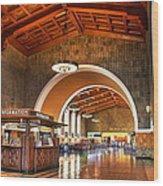 Inside Los Angeles Union Station Wood Print