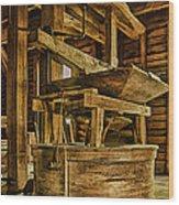Inside Mingus Grist Mill Wood Print