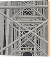 Inside Of The Ferris Wheel Wood Print