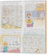 'inside One's Memory Bank' Wood Print