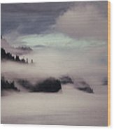 Inside Passage In The Mist Wood Print