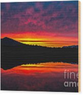 Inside Passage Sunrise Wood Print