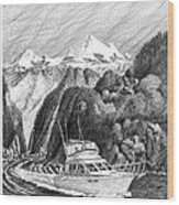Cruising The Inside Passage Wood Print