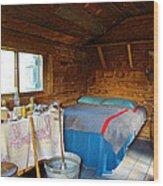 Inside Savage River Cabin In Denali Np-ak   Wood Print