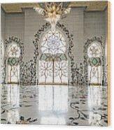 Inside Sheikh Zayed Grand Mosque - Abu Dhabi Wood Print