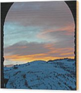 Inside The Arch Wood Print