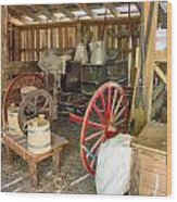 Inside The Barn Wood Print