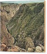 Inside The Black Canyon Wood Print