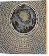 Inside The Capitol Dome Wood Print