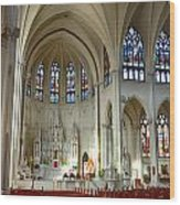 Inside The Cathedral Basilica Of The Immaculate Conception 1 Wood Print