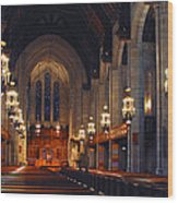 Inside The Cathedral Wood Print