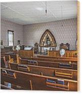 Inside The Church Wood Print
