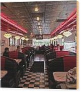 Inside The Diner Wood Print by Randall Weidner