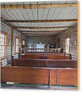 Inside The Little Church - World Mining Museum Wood Print