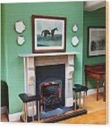 Inside The Manor Wood Print