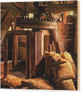 Inside The Old Mill Wood Print
