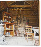 Inside The Real Sam Mcgee's Cabin In Macbride Museum In Whitehorse-yk Wood Print
