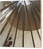 Inside The Tipi Wood Print