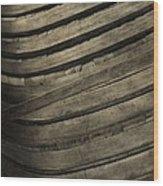 Inside The Wooden Canoe Wood Print