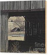 Barn - Kentucky - Inside Treasure Wood Print
