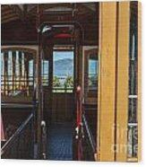 Inside Trolley 28 Wood Print