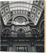 Inside Union Station Wood Print