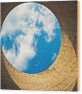 Inside View Of Cooling Tower Wood Print