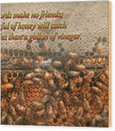 Inspiration - Apiary - Bee's - Sweet Success - Ben Franklin Wood Print by Mike Savad