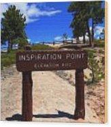 Inspiration Point Wood Print