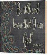 Inspirational Chalkboard-b Wood Print