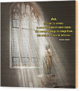 Inspirational - Heavenly Father - Senrenity Prayer  Wood Print