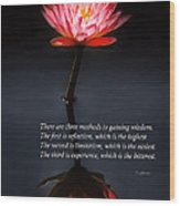 Inspirational - Reflection - Confucius Wood Print by Mike Savad